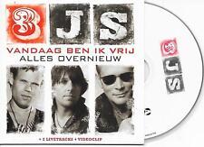 3JS - Vandaag ben ik vrij CD SINGLE 5TR Enh DUTCH CARDSLEEVE 2009 Holland