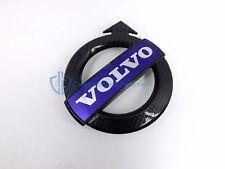 Volvo XC70 S60 C30 Black Carbon Fiber Grille Emblem OEM Badge Bumper R-Design
