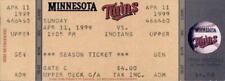 Cleveland Indians vs Minnesota Twins 4/11/99 Full Ticket Jim Thome HR #165 / 612