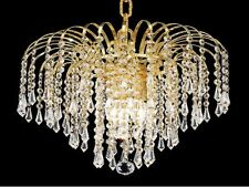 "Palace Lexington 14"" 4 light Crystal Chandelier Light Gold Ceiling light"