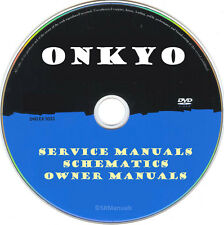 Onkyo Service Manuals & Schematics- PDFs on DVD - Huge Collection Latest