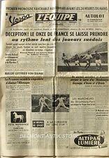 Journal l'Equipe n°2233 - 1953 - Foot France-Suède - G Von Cramm - Coupe Davis