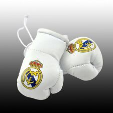 MINI BOXING GLOVES FOR THE REAR VIEW MIRROR OF YOUR CAR REAL MADRID FOOTBALL