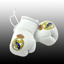 MINI Guantoni da boxe per LO SPECCHIETTO RETROVISORE della tua auto Calcio Real Madrid