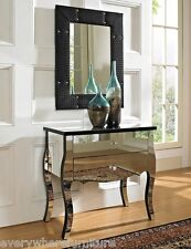 Set of 2 GLAM MIRRORED MIRROR FURNITURE NIGHTSTAND BEDROOM CHEST DRESSER TABLE