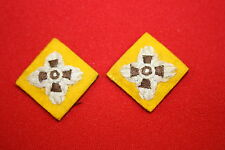 BRITISH CANADA WWII WW2 ARMOURED REGIMENTS YELLOW RANK PIPS PAIR