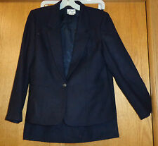 Womans sz 8P - Dark Navy Blue SKIRT SUIT - Glenbrooke - fully lined - excellent