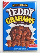 Chocolate Teddy Grahams FRIDGE MAGNET (2.5 x 3.5 inches) bears box crackers