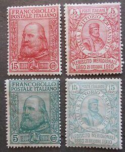Italy 1910 regular issue, Yv #83-86, MH, CV=400EUR