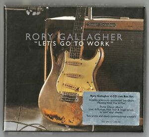 Rory Gallagher - Lets Go To Work (4 CD Live Box Set with 2 Prints) (2001)