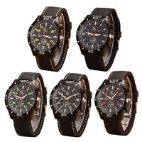 Fashion Mens Sport Watch Stainless Steel Dial Silicone Quartz Round Wristwatch