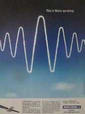 2/1989 PUB MATRA ESPACE ESA COMMUNICATION SATELLITE SPACE INMARSAT TELECOM AD