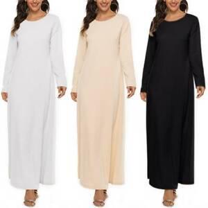 Women's Muslim Abaya Islamic Burka Jilbab Kaftan Solid Maxi Long Dress Arab Robe