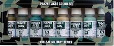 Vallejo PANZER ACES 70.126 Set Nº 3 Crew UNIFORMI 8x17ml vernici acriliche