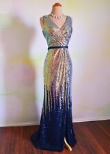 NAVY BLUE PROM 2020 EVENING PAGEANT FORMAL BALL GALA DRESS WEDDING GOWN S 4 6
