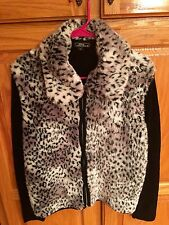 Lisa International Leopard Sweater Cardigan Women's Size Small