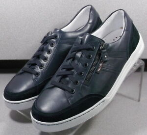 ARNAUD NAVY MMSP75 Men's Shoes Size 8 M (EUR 7.5) Leather/Suede Lace Up Mephisto