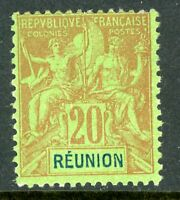 French Colony 1892 Reunion 20¢ Peace and Commerce SG # 40 Mint R895