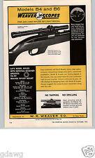 1962 PAPER AD Weaver Gun Rifle Scope Telescope Penn Fishing Reel Senator 9/0