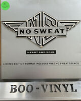 """NO SWEAT - HEART AND SOUL 7"""" BOX SET INCLUDES STENCIL A1 B1 1990  MINT SEALED"""
