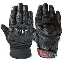 Leather Motorcycle Gloves Motorbike Biker Racing Knuckles Protection S to XL