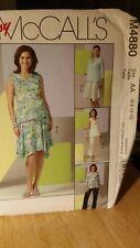 McCALL'S 4880 Misses Maternity Tops Skirt Pants SZ 6-8-10-12