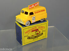 MATCHBOX MOKO LESNEY MODEL No.42a     EVENING NEWS VAN   MIB