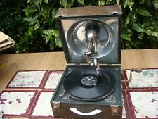 Vintage Old  Antique  DECCA   Portable Gramophone