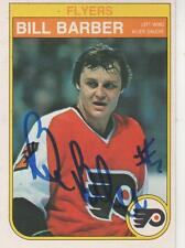 BILL BARBER SIGNED 82-83 O-PEE-CHEE #247 - PHILADELPHIA FLYERS