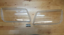 99-05 VW JETTA BORA MK4 REPLACEMENT GLASS HEADLIGHT LENSES - PAIR