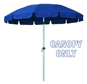 New 8.5 Ft 12 Rib Replacement Patio Umbrella Poly Canopies Pacific Blue Valance