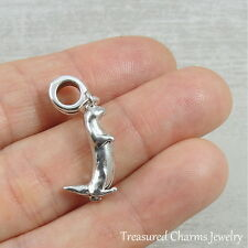 Silver Sea River Otter Dangle Bead Charm - fits European Bracelets NEW