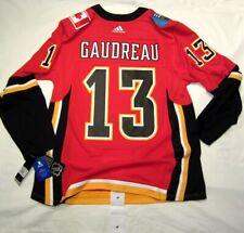 JOHNNY GAUDREAU - size 52 = Large - Calgary Flames Adidas NHL Hockey Jersey Home