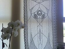 "Rennie Mackintosh 160""  4m long sidelight panel Scottish cotton lace White lace"