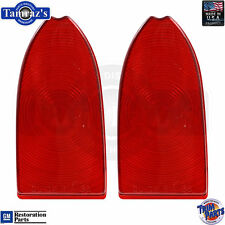 55-58 Cameo Taillight Tail Turn Brake Light Lamp Lens - PAIR   Made in the USA