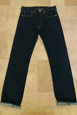 Levis Vintage LVC Blue New Rinse 1947 501 RED Selvedge Jeans w32 L34