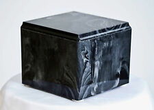 Black with White Marble Composite Display / Burial Urn
