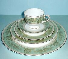 Wedgwood Columbia Sage Prestige 5 Piece Place Setting Dinnerware Made in UK New