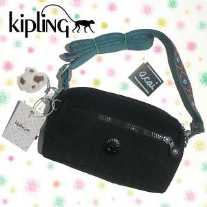 New KIPLING Make Happy Eugene Black Mini Crossbody Bag HB7177 MSRP $59 NW/Monkey