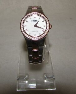 ROTARY LADIES WATCH ROSE GOLD STAINLESS STEEL LB03501/07 RF3142