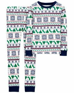 NWT Carter's 3T 4T 5T 6 7 8 10 12 14 Holiday Christmas Dinosaur Pjs Pajamas