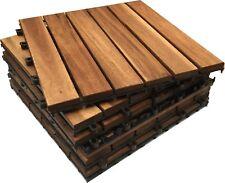CLICK-DECK - Decking Tiles Square HARDWOOD Wooden Interlocking Deck Tile Patio