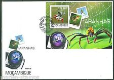 MOZAMBIQUE  2014  SPIDERS  SOUVENIR SHEET FIRST DAY COVER