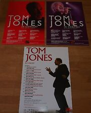 TOM JONES (UK Concert Tour Flyers x 3) 2006 & 2009a & 2009b