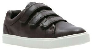 Boys Clarks Casual Shoes - City Oasis Lo T Brown Leather Size UK 9.5 F
