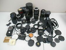Lot Of 35mm Film Camera Lens and Accessories-Various Brands And Mounts