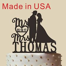 """Personalized Silhouette Wedding Cake topper,Fireman Cake Topper,Made in USA 5"""""""