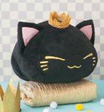 Nemuneko 12'' Black Cat with Gold Crown Cat Plush Anime Manga NEW