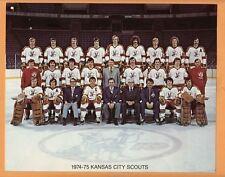 OLD ORIGINAL 1974 KANSAS CITY SCOUTS NHL TEAM STOCK 8 x 10 COLOR PHOTO MINT