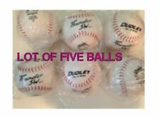 Lot of 5 Dudley Asa Thunder Sw .40 Softballs - Leather Cover